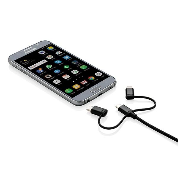 Accessoire personnalisable - Câble 3 en 1 sous licence MFI Triple