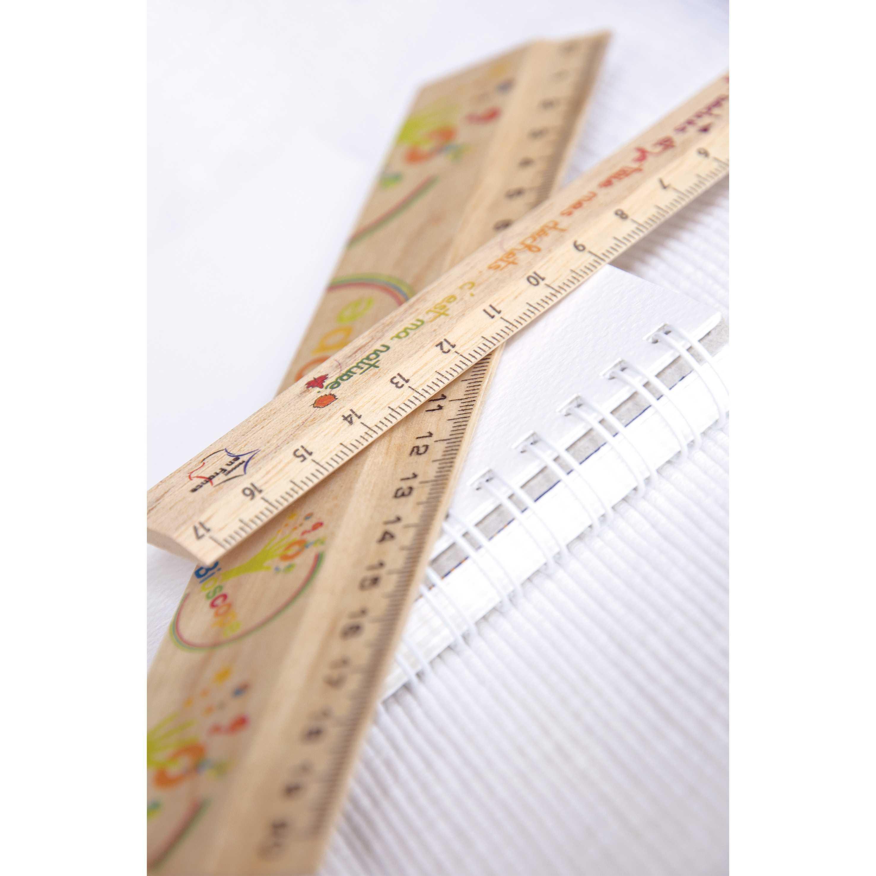 Goodies écologique - Règle publicitaire en bois de hêtre 20 cm