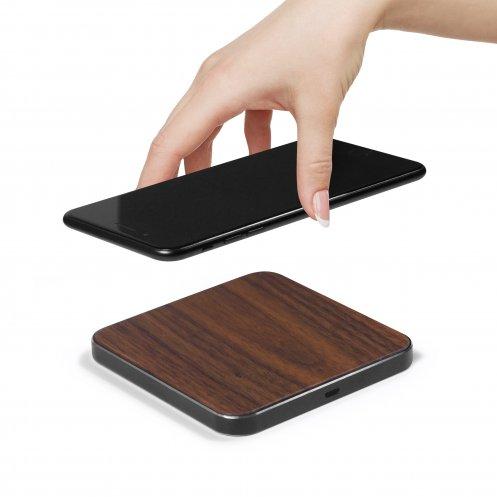 Chargeur publicitaire à induction Induwood - Chargeur smartphone publicitaire