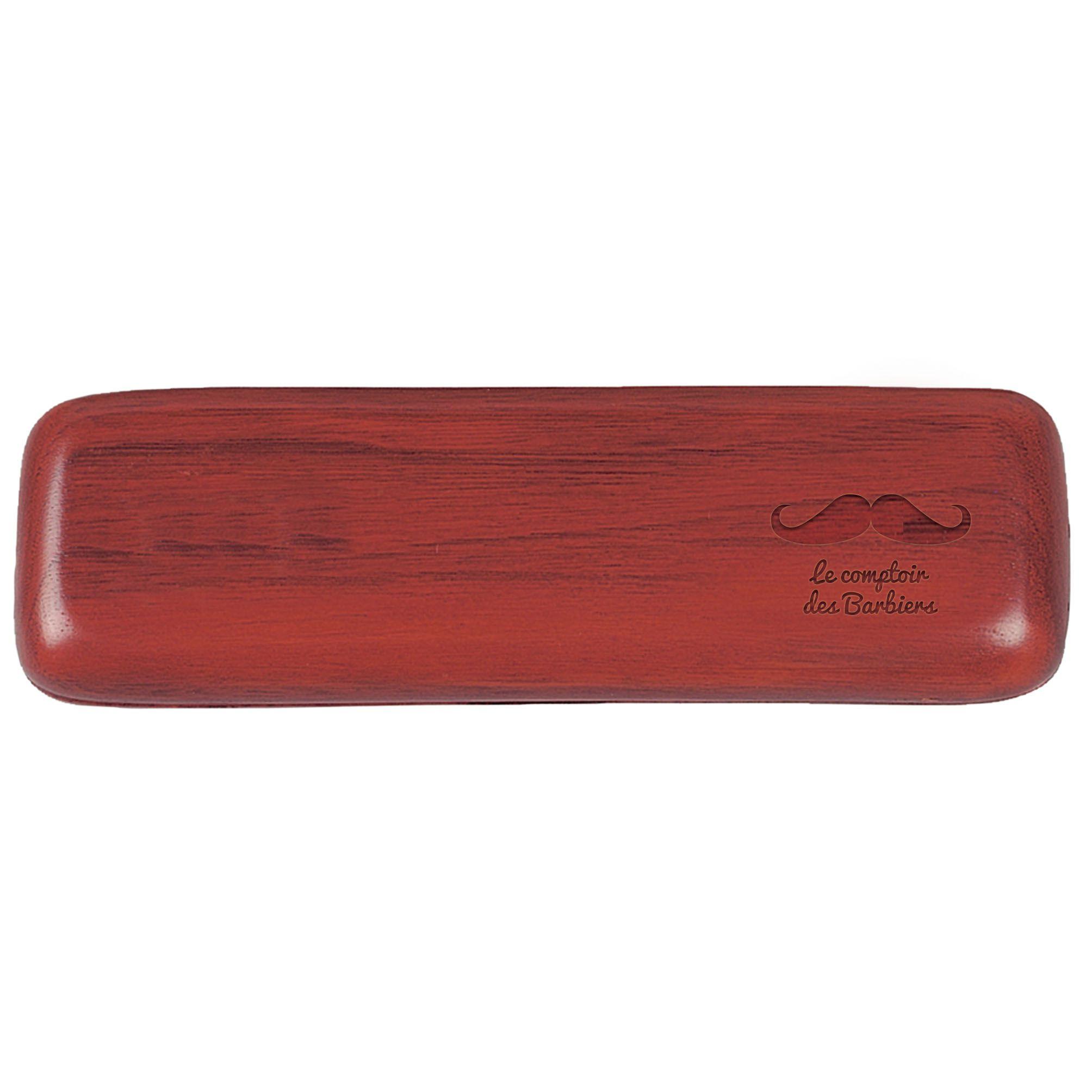 Cadeau publicitaire - Parure bois stylo Bille publicitaire et Roller Wood