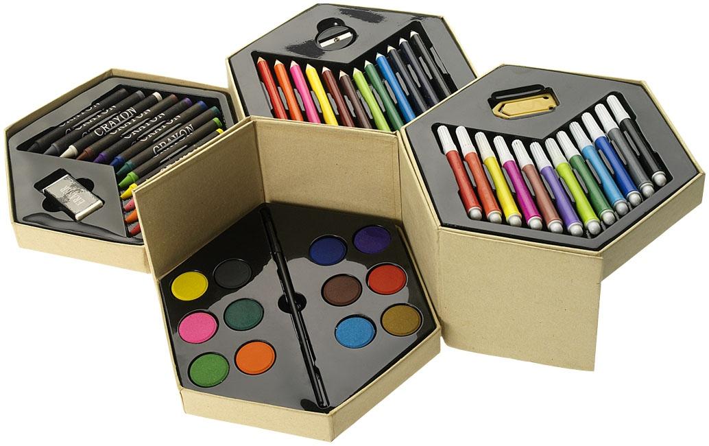 Set de coloriage publicitaire 52 pièces Hexa - cadeau d'entreprise