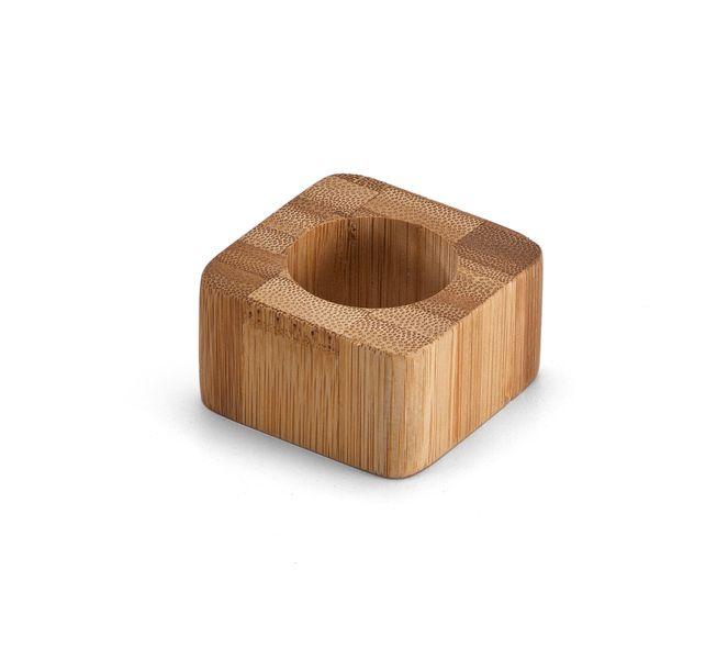 Accessoire de cuisine personnalisé - Set de 2 ronds de serviette Bambus