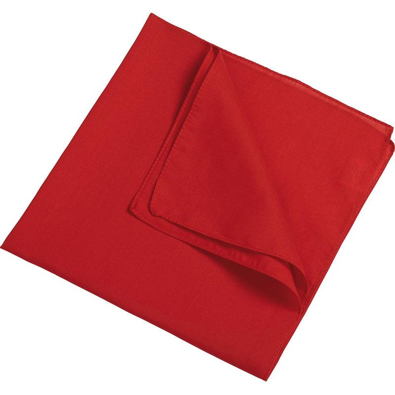 Foulard publicitaire Denis rouge - foulard personnalisable