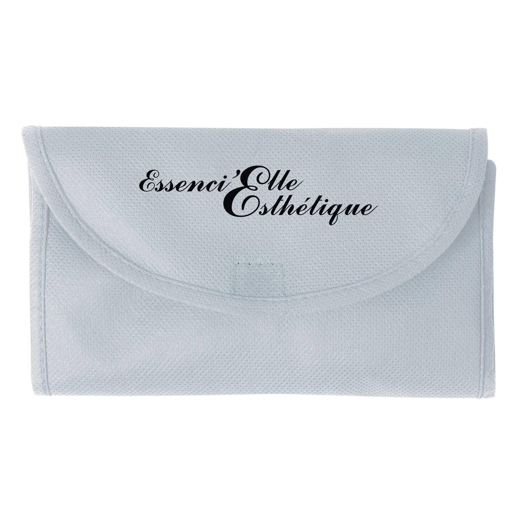 Sac shopping publicitaire pliable non tissé Pochette - sac shopping personnalisable - bleu roayl