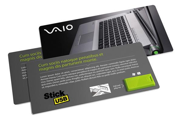 Clé USB publicitaire prête-à-coller - Objet publicitaire