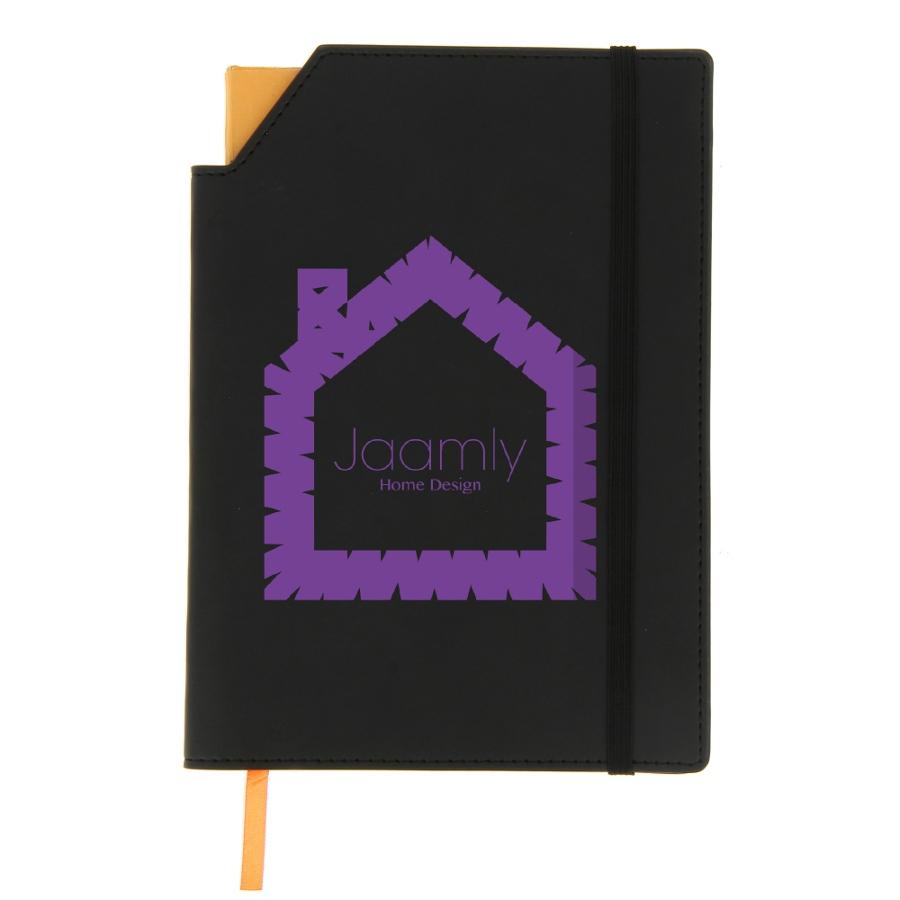 Carnet de notes promotionnel Bic® Notebooks Dual A5 noir - objet publicitaire