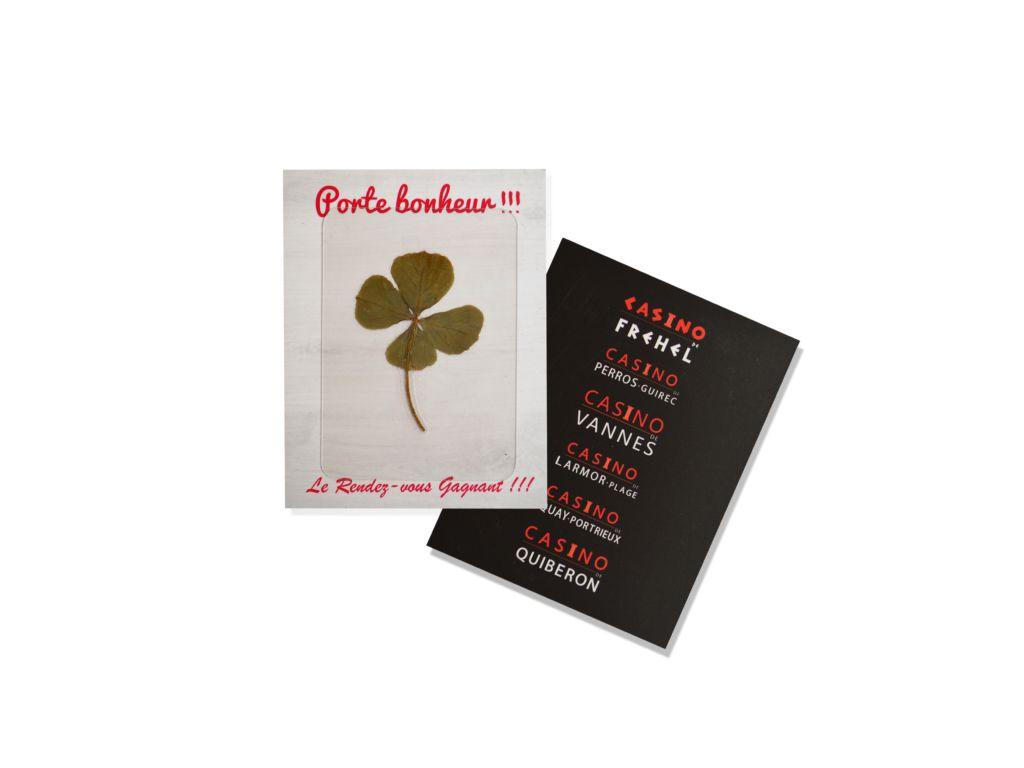 Carte Trèfle porte bonheur - cadeau personnalisable végétal