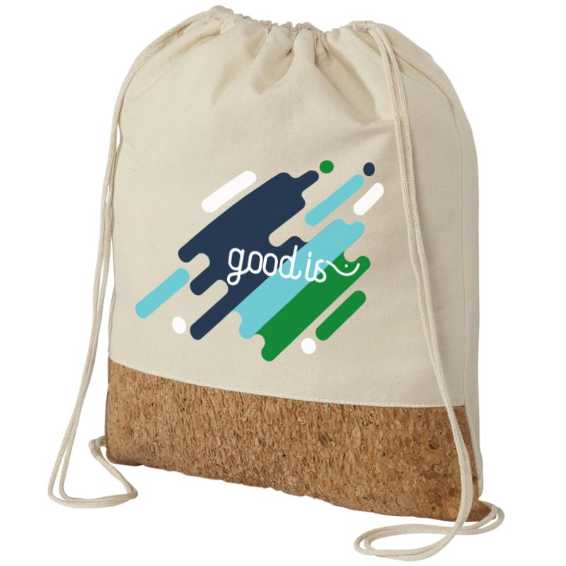 Gym bag publicitaire premium coton et liège