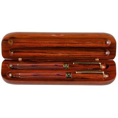 Cadeau d'entreprise - Parure bois stylo Bille publicitaire et Roller Wood - bois clair