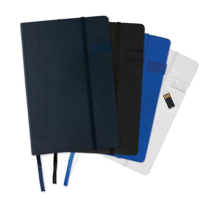 Carnet de notes publicitaire A5 avec clé USB 4Go 4 coloris