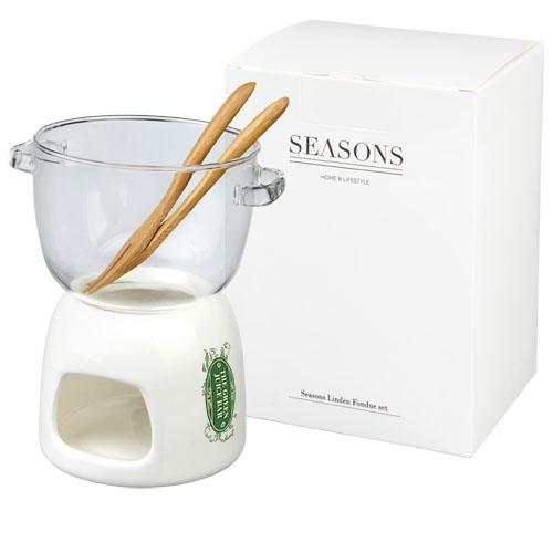 Cadeau publicitaire - Ensemble en verre pour fondue au chocolat