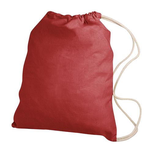 Gymbag publicitaire écologique en coton naturel Gymi -  sac coton à cordelettes personnalisable