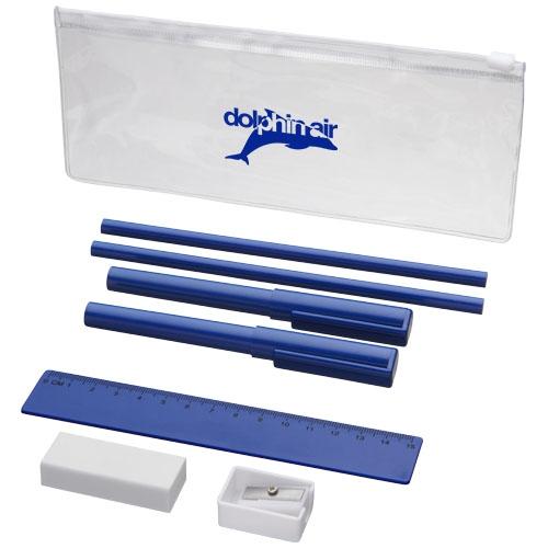 Cadeau d'entreprise - Set écriture 8 pièces Mindy - bleu