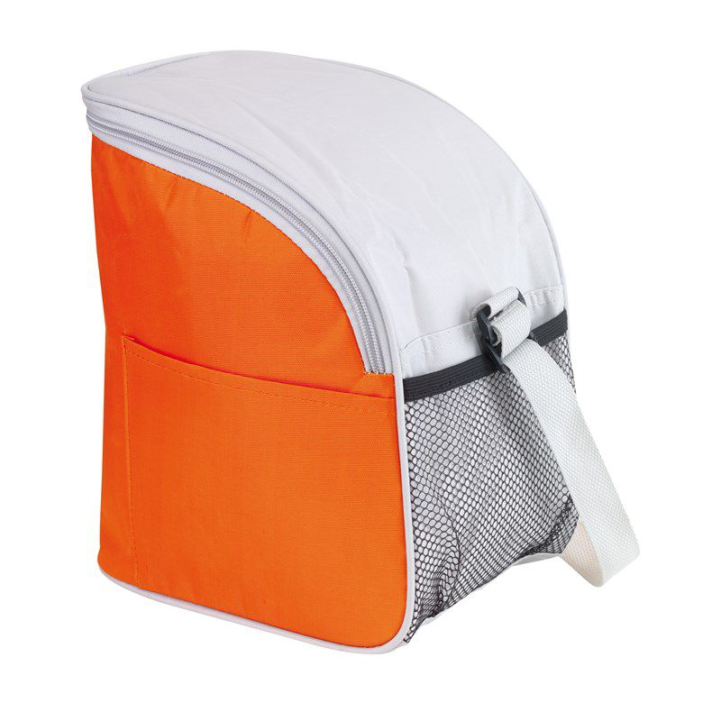 Sac isotherme publicitaire rose Glacial - Lunch bag  personnalisable
