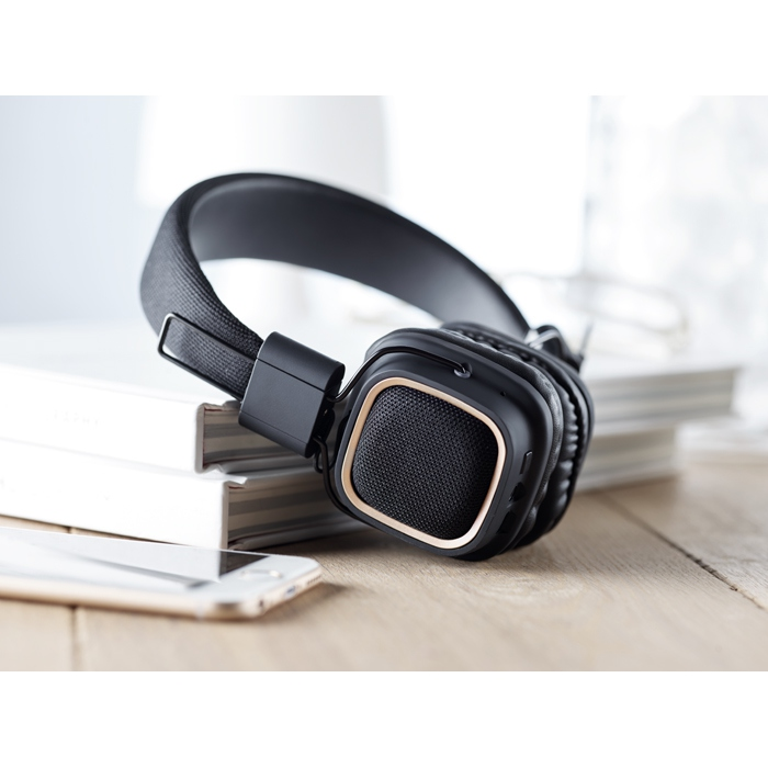 Cadeau d'entreprise - Casque vintage Bluetooth® personnalisé Rhythm