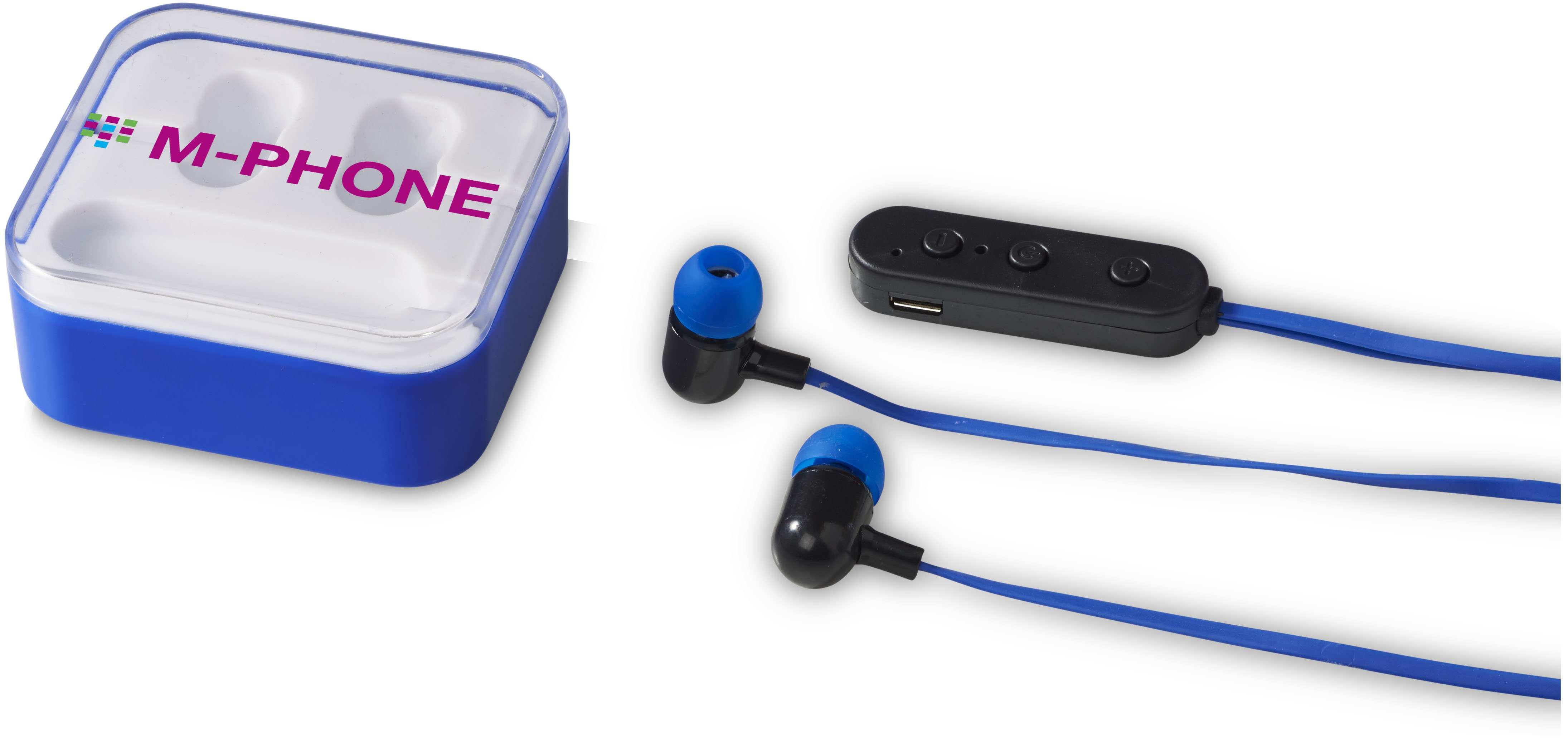 écouteurs publicitaires Colour Pop bleu