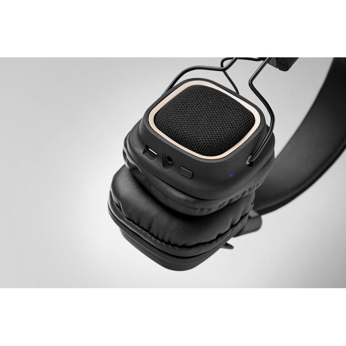 Casque audio publicitaire - Casque vintage Bluetooth® personnalisé Rhythm