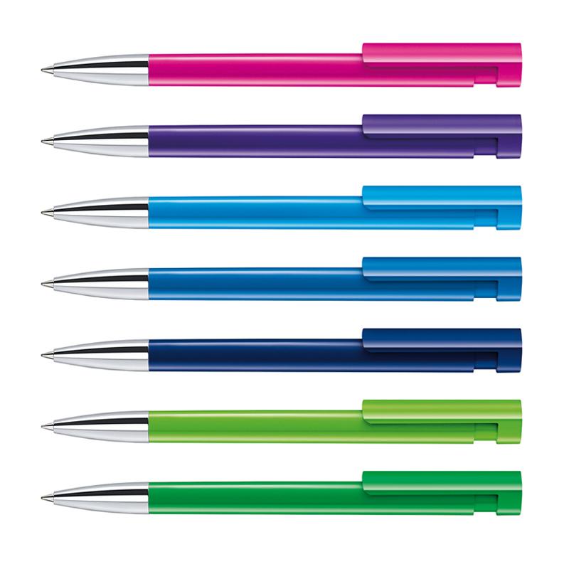 Stylo bille publicitaire Liberty Polished pointe métallisée - stylo personnalisable