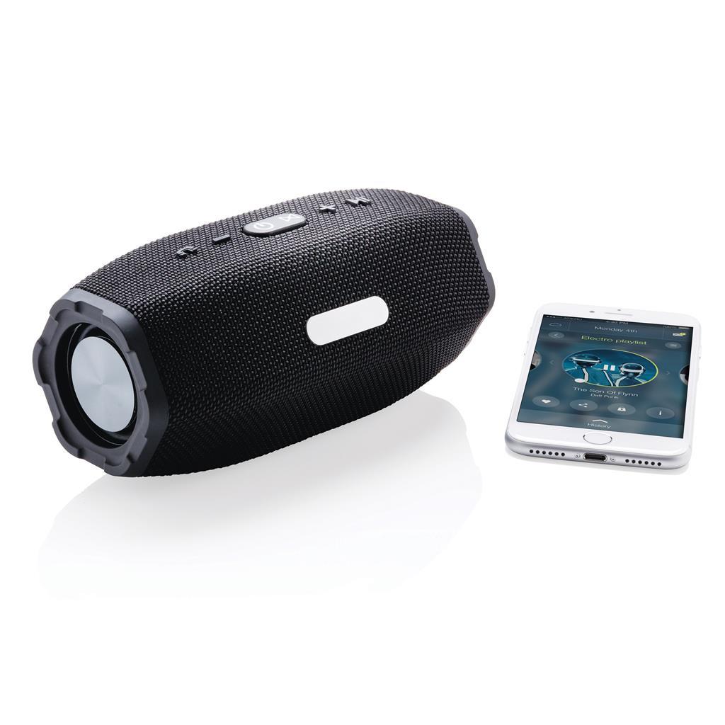 Cadeau d'entreprise high-tech - Haut-parleur publicitaire san fil 6W Force
