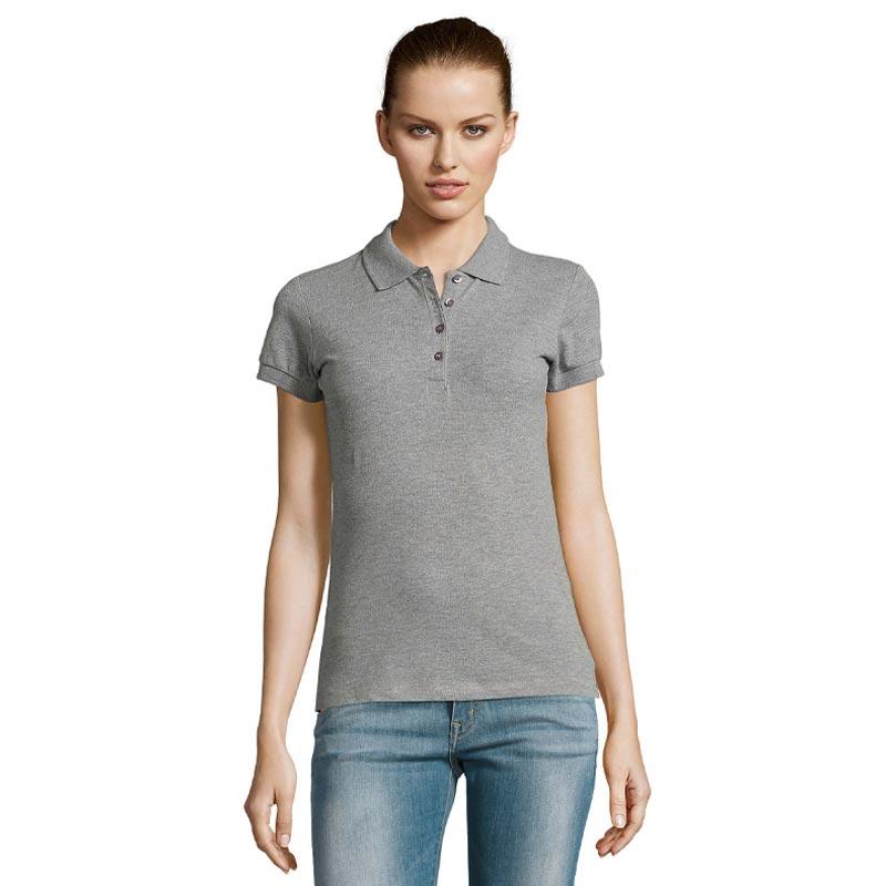 Polo en coton personnalisable modèle femme