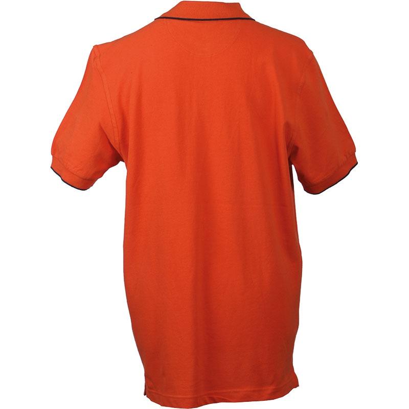 Polo promotionnel unisexe Tie break orange - polo publicitaire