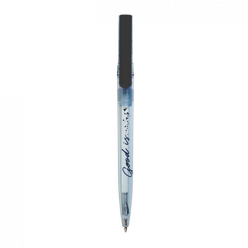 stylo bille publicitaire en rpet Dam noir