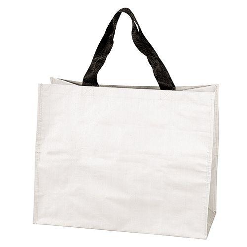 Sac shopping personnalisé pp tissé Shopy - sac cabas publicitaire blanc