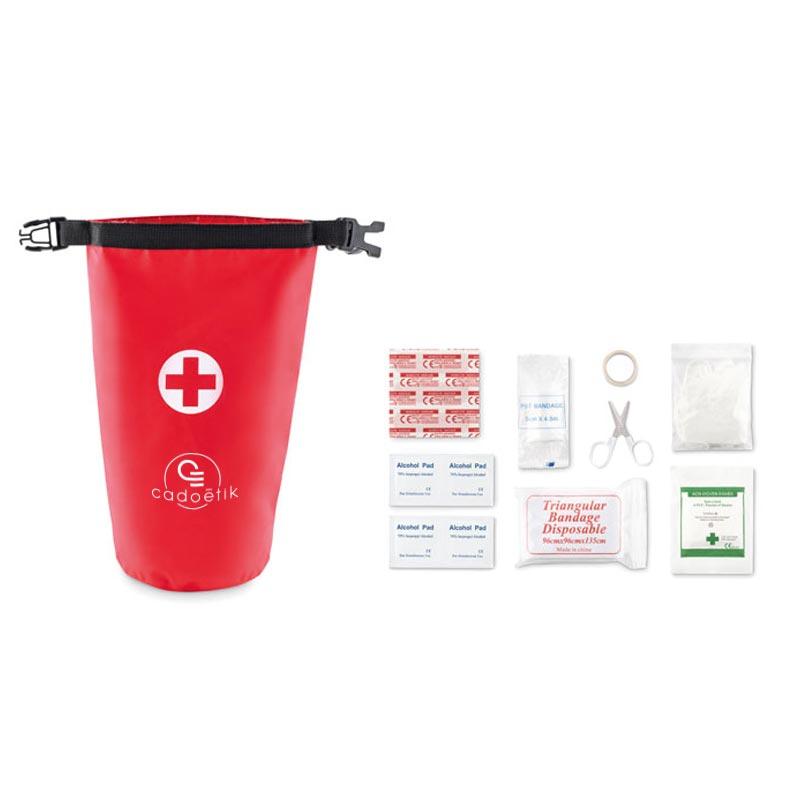 Cadeau publicitaire santé - Kit 1er secours étanche Superbag