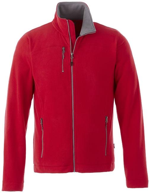 Textile publicitaire - Veste micro-polaire publicitaire homme Pitch - rouge