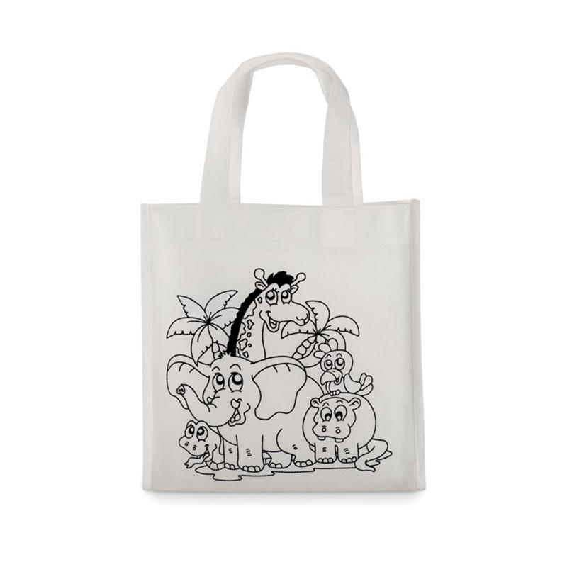 Mini sac shopping à colorier Shoopie