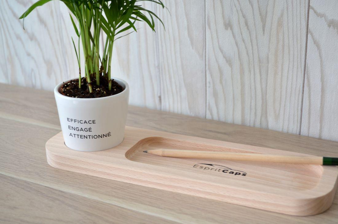"""Plateau """"Nature au bureau"""" avec plante - plante publicitaire"""