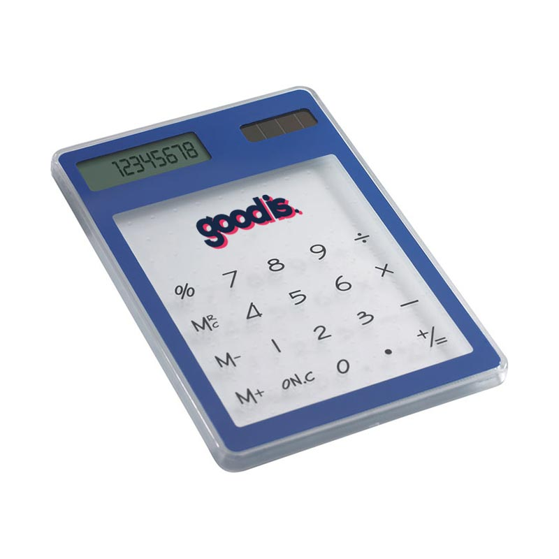 Calculatrice solaire transparente
