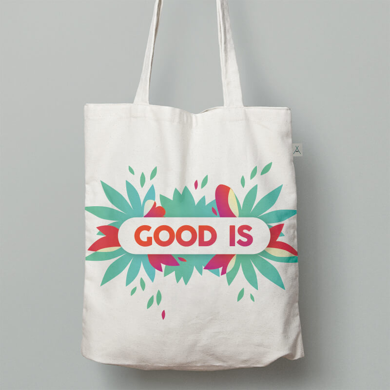 Goodies entreprise - Tote bag Coton 130G  Ecru Kanpur