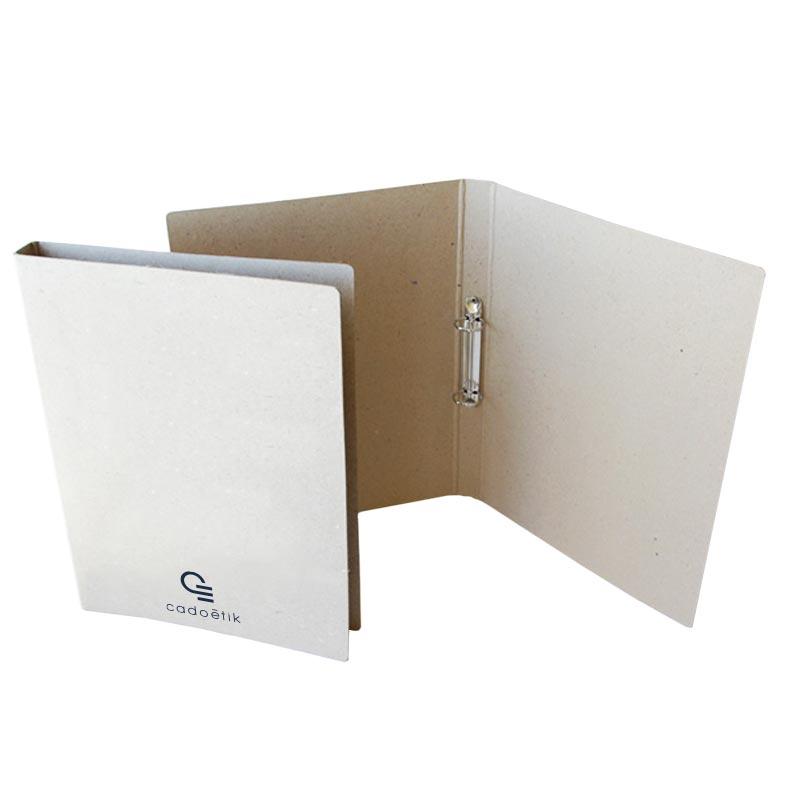Classeur publicitaire en carton recyclé 2 ou anneaux - objet publicitaire écologique