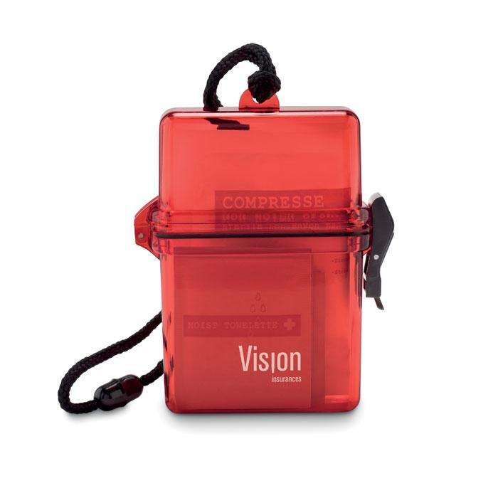 objet publicitaire - Kit de secours publicitaire étanche Safe