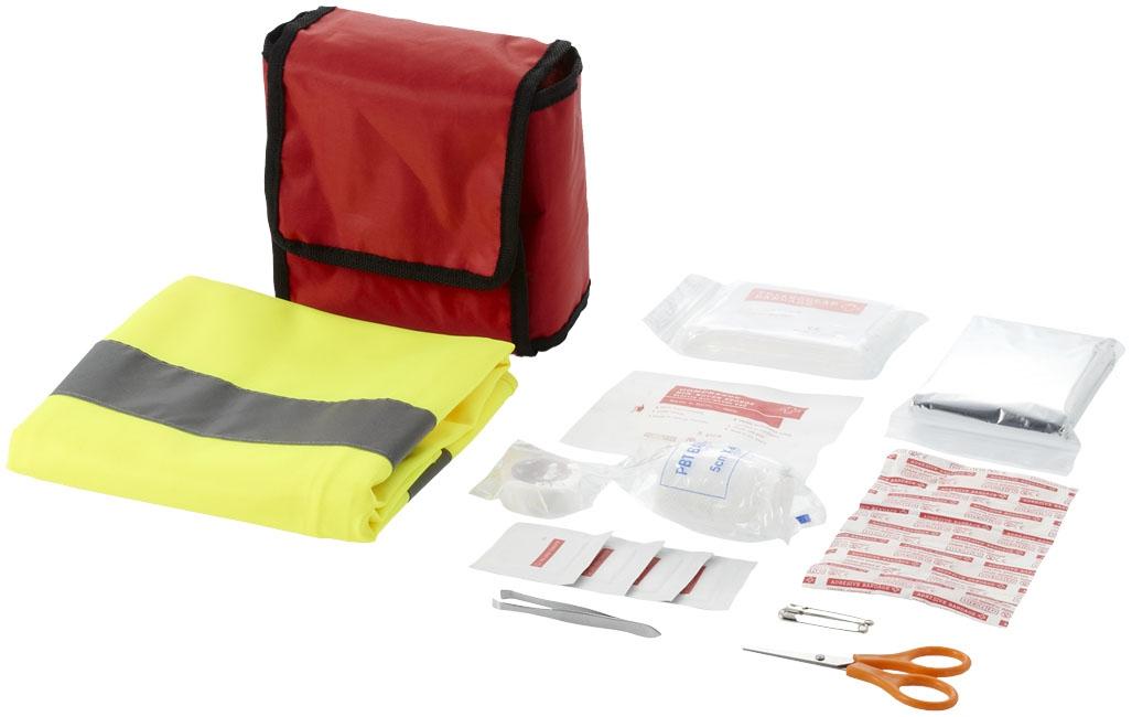Objet publicitaire sécurité - Kit premiers secours 19 pièces Contusion