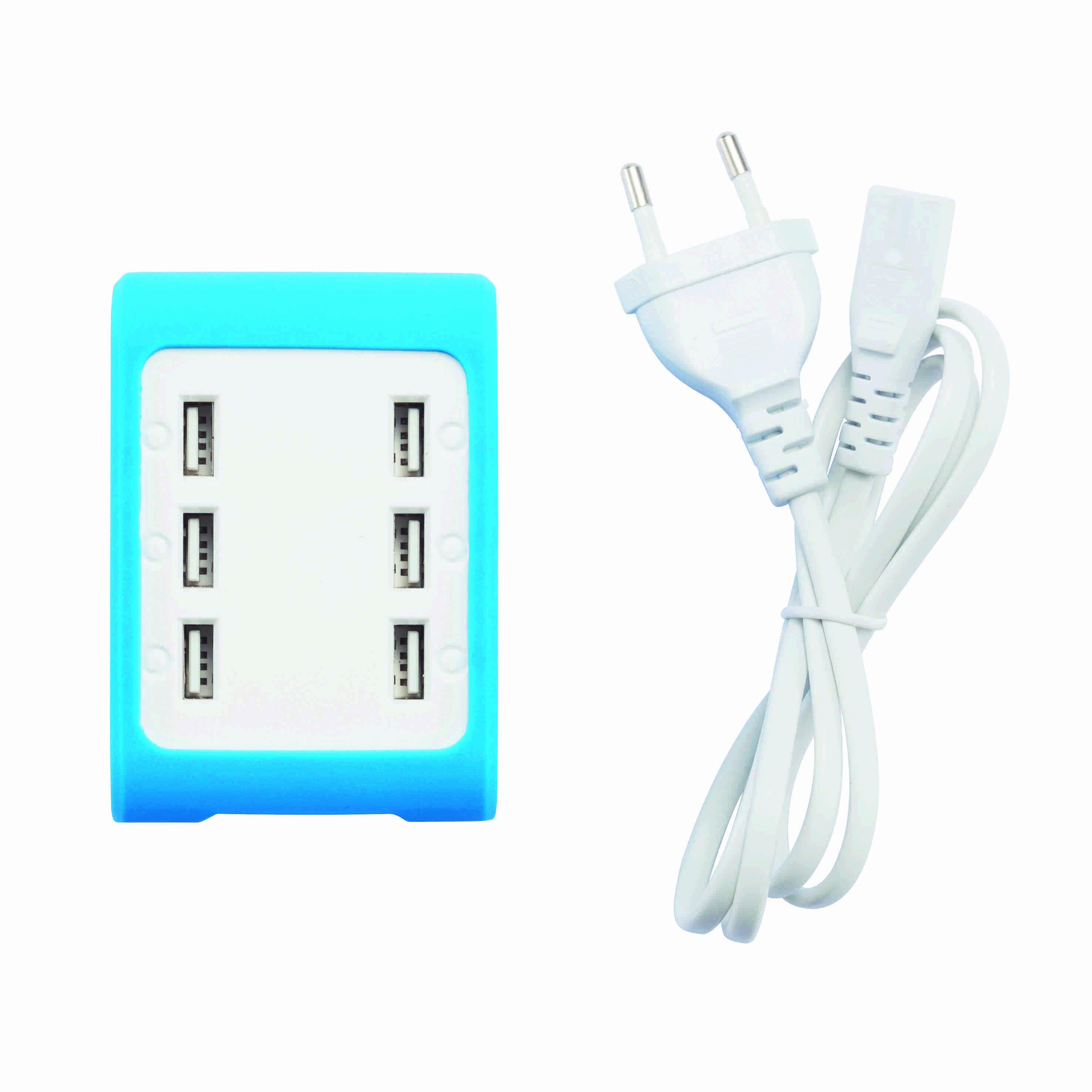 Station de recharge publicitaire 6 ports USB TOP vert