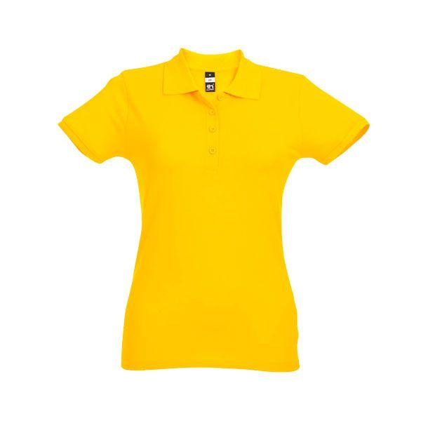 Polo publicitaire pour femme Eve couleur jaune