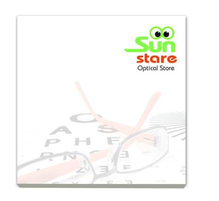 Bloc-notes publicitaire BIC® 75 mm x 75 mm 25 feuilles adhésives