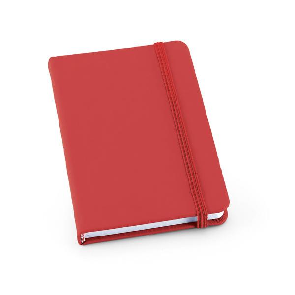 Carnet personnalisable Crop rouge - carnet promotionnel