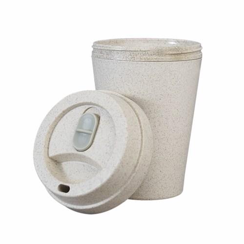 Mug publicitaire écologique Drinksaf en fibres de blé à double paroi