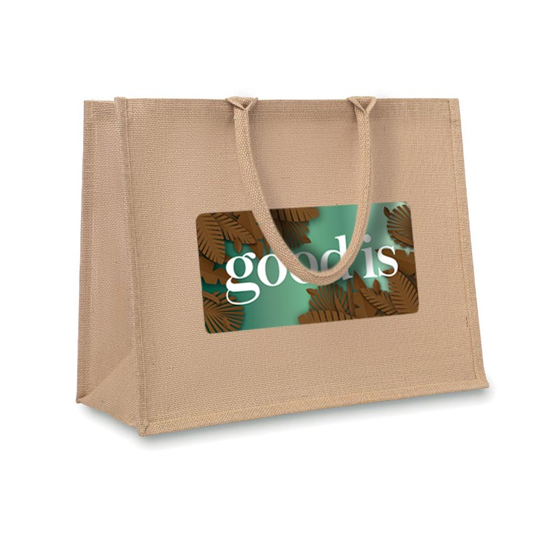 Goodies écologique - Sac shopping promotionnel en jute Brick Lane