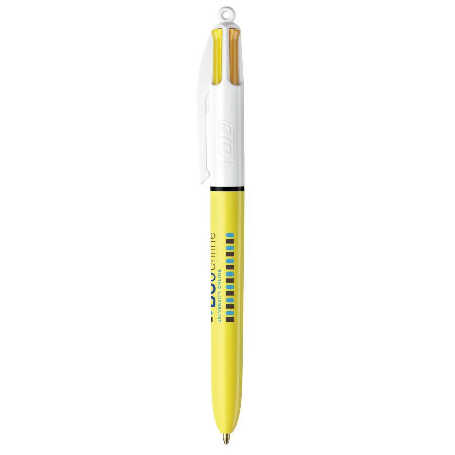 Stylo bille publicitaire 4 couleurs BIC® Sun - stylo personnalisable