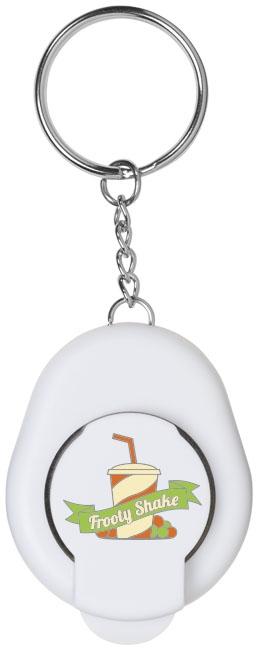 Porte-clés publicitaire décapsuleur Cappi blanc