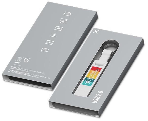 Clé USB publicitaire Iron Elegance C - Clé USB personnalisable - bleu