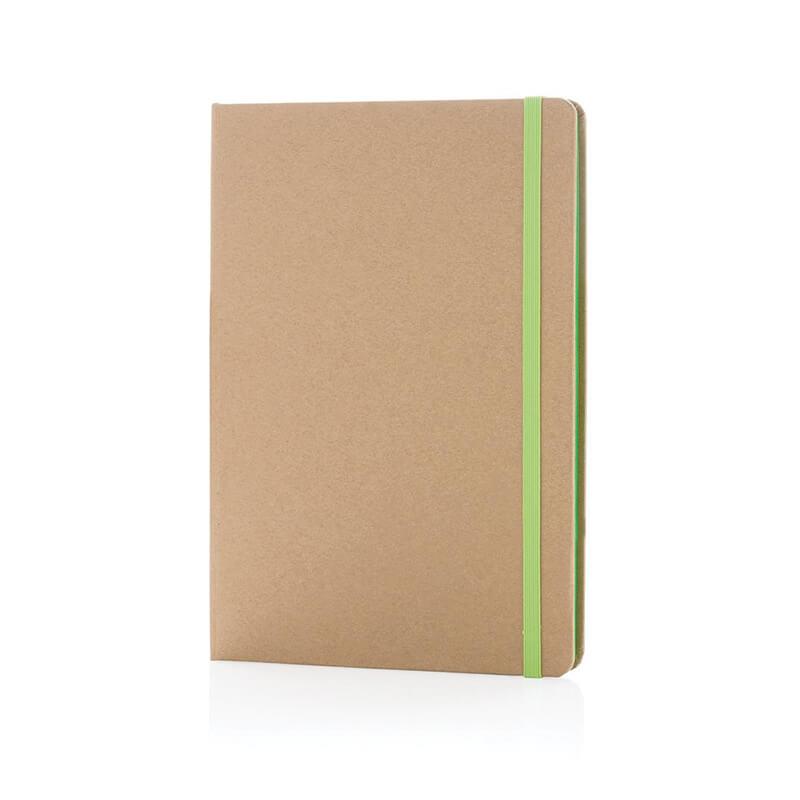 Carnet publicitaire kraft écologique A5 Cardboard - rouge