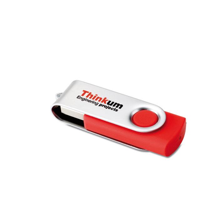 Clé USB publicitaire flash 4GoTechmate - bleu