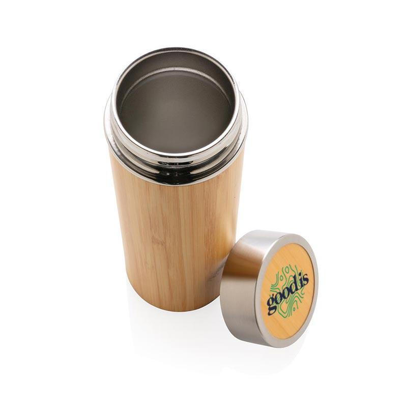Bouteille isotherme personnalisable en bambou Ecox