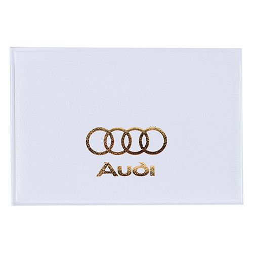 Porte-cartes de crédit personnalisable Pocket blanc - Porte-cartes 1 face transparente