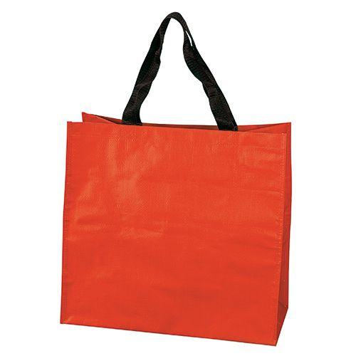 Sac Shopping personnalisé pp tisse Dora - cabas de course publicitaire brique